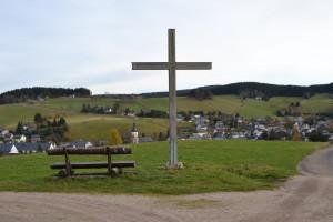 "Das ""Gipfelkreuz"" über Sosa"