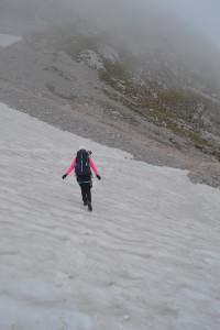 Auch hier wieder Schnee und Geröll